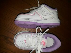 "Nike Air Force 1 Toddler ""Fuchsia/White"""" DC9671-110 Sz 6c 6 c BABY SHOES"