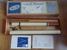 Ancien rare jouet lunette télescope du jeune astronome année 1961 espace + boîte
