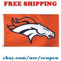 Deluxe Denver Broncos Team Logo Flag Banner 3x5 ft NFL Football 2019 NEW