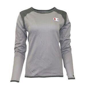 Champion Reverse Weave Women's (Active Grey) Performance L/S Tech Crew Fleece