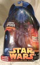 2005-Toys R Us-STAR WARS -HOLOGRAPHIC EMPEROR -EXCLUSIVE FIGURE. MOSC.