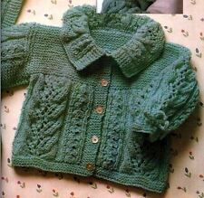 Knitting Pattern Baby Cardigan Hat Booties & Blanket Lovely Set