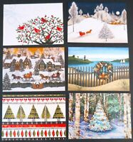 Lot 12 Christmas Cards with Envelopes Peter Pauper Press  2 each 6 Designs
