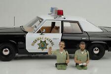 Sheriff Police Cop Polizist Fahrer Set Figur 2x 1:18 American Diorama no car