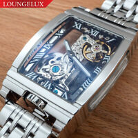 Mens Silver Bridge Manual Mechanical Watch - Stainless Steel DIASTERIA 1688B