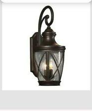 "New Allen+Roth Castine 14""H Aged Bronze Finish Outdoor Wall Light 39472 Lantern"