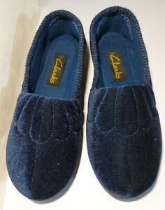 New Clarks  Womens Slip On Navy Slippers Size UK4/EUR37