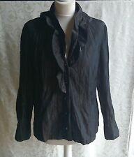 CATHERINA HEPFER Brown JACKET .. UK 16 .. Crinkle Fabric
