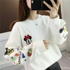 Fashion Girls Women  Korean Style Brushed T-shirt LongSleeve  Loose Mickey Tops