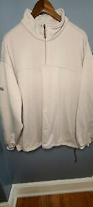 Ping Collection 1/4 Zip Khaki Large Pullover Golf Jacket Polyester Men's EUC