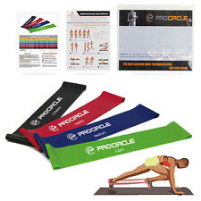 PROCIRCLE Resistance Exercise Loop Bands Home Gym Fitness Natural Latex Set of 4