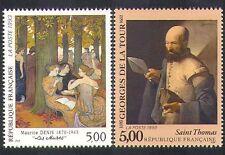 France 1993 Art/Paintings/Artists/Painting/Saints/Muses 2v set (n37042)