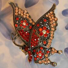 Dolly-Bijoux Fantaisie Grosse Bague Papillon Pavé Cristal Swarowsky 70mm