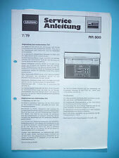 Service MANUAL Grundig RR 800 Radio Recorder, ORIGINALE