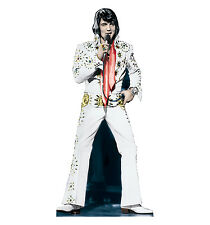ELVIS PRESLEY White Jumpsuit Lifesize CARDBOARD CUTOUT Standup Standee Poster