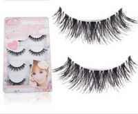 5Pairs Natural Sparse Cross Eye Lashes Extension Makeup Long False Eyelashe r*t