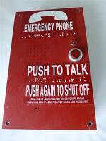 VINTAGE SUSSEX EMERGENCY CALL BOX PHONE INTERCOM W/ BRAILLE 2100-926RD