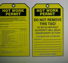 Hot Work Permit Tag By The Roll,6-1/4 x 3 100 pack Accuform Tar706
