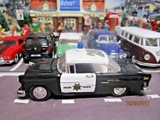 "TRAIN GARDEN HOUSE VILLAGE  "" 1955 CHEVY POLICE CHIEF CAR "" + DEPT 56/LEMAX INFO"