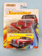 28579 MATCHBOX / 50 ANNIV 2019 / SUPERFAST '62 MERCEDES BENZ 220 SE 1/64