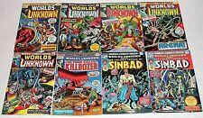 Worlds Unknown 1 2 3 4 5 6 7 8 Bronze Age Marvel Horror Sci-Fi Lot Full Run F-VF