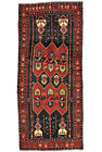 Vintage Persìan Koliai 5'x11' Blue Wool Tribal Hand-Knotted Oriental Rug