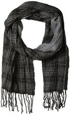 "NEW John Varvatos 100% Merino Wool Scarf in Black 72""L x 11 1/2""W"