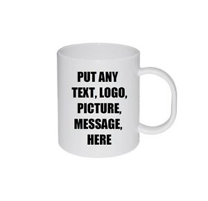 Personalised Mug Custom Gift Tea Coffee Birthday Full Colour Photo Text Design