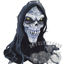 Halloween Evil Zombie Skeleton Corpse Skull Head With Hood Latex Party Prop Mask