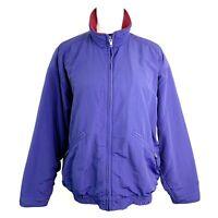 Patagonia Outdoor Purple Zip Fleece Lined Side Pockets Bomber Jacket Womens M