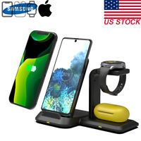 QI Fast Charge 3in1 Wireless Charger Dock for iPhone XS Apple Watch TWS Samsung