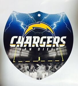"""SAN DIEGO CHARGERS Team Interstate Sign Shield Plastic 8"""" x 8"""" NEW Free USA Ship"""