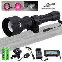 1000 yards Hunting Light Torch Adjustable Night Vision IR Zoomable Flashlight