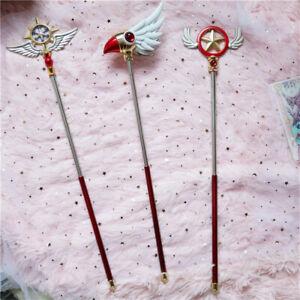 Card Captor Sakura Cosplay Prop Wand Walking Stick Holiday Gift Magic Wand 52CM