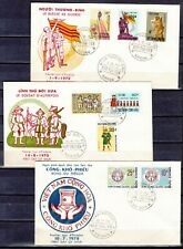 VIETNAM 1972  3  FDC COVERS first day premier jour