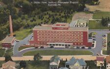 Postcard Aerial View Sunbury Community Hospital Sunbury Pa