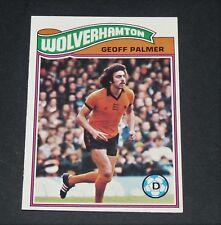 GEOFF PALMER WOLVERHAMPTON WOLVES FOOTBALL CARD 1978 TOPPS ORANGE PANINI