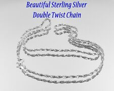Beautiful Sterling Silver Twist Design Box Chain Italy 925