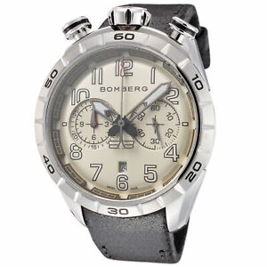 Bomberg Men's NS44CHSS-205-9 BB-68 Racer 44mm White Dial Watch