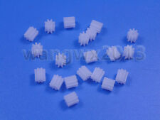 20PCS 8T 8 teeth 0.5 Mold 2mm Aperture Motor Plastic Gear Wheel for DIY Toy