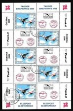 Echte Briefmarken mit Luftfahrt-Motiven aus Österreich