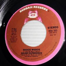 SOUND EXPERIENCE Boogie Woogie Where has your Love Gone FUNK Soul 45 c2014