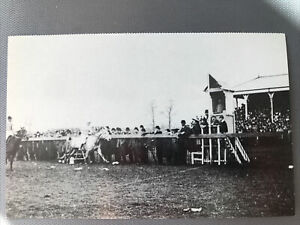 Racecourse Postcard Burton Lazars Leicestershire Ca 1925 (Reproduction) Hickman