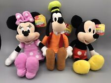 "Mickey Mouse ClubHouse Bean Plush - Goofy, Minnie, & Mickey 10""-14"""