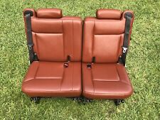 2009 -2008 09 08 H2 Hummer H2 3rd row seat in Brick Red leather