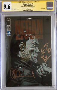 Walking Dead Negan Lives #1 BRONZE Foil Var CGC 9.6 SS Charlie Adlard w/Remarque