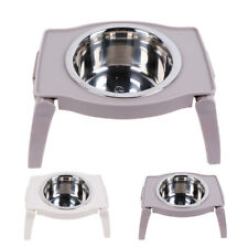 Raised Dog Bowl Stand Single Feeder Elevated Foldable Large Pet Water Food Bowls