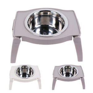 Non-Slip Elevated Dog Bowl Feeder Raised Pet Cat Dog Dish Food Water Holder