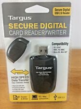 NEW SEALED Targus Secure Digital Card Reader Writer USB High Speed For PC MAC