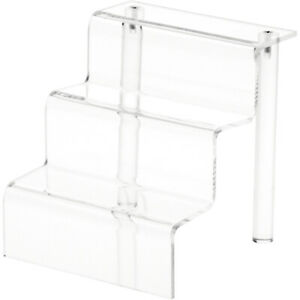 """Plymor Clear Acrylic 3-Step Display Stairs, 6.25"""" H x 6"""" W x 6.5"""" D"""